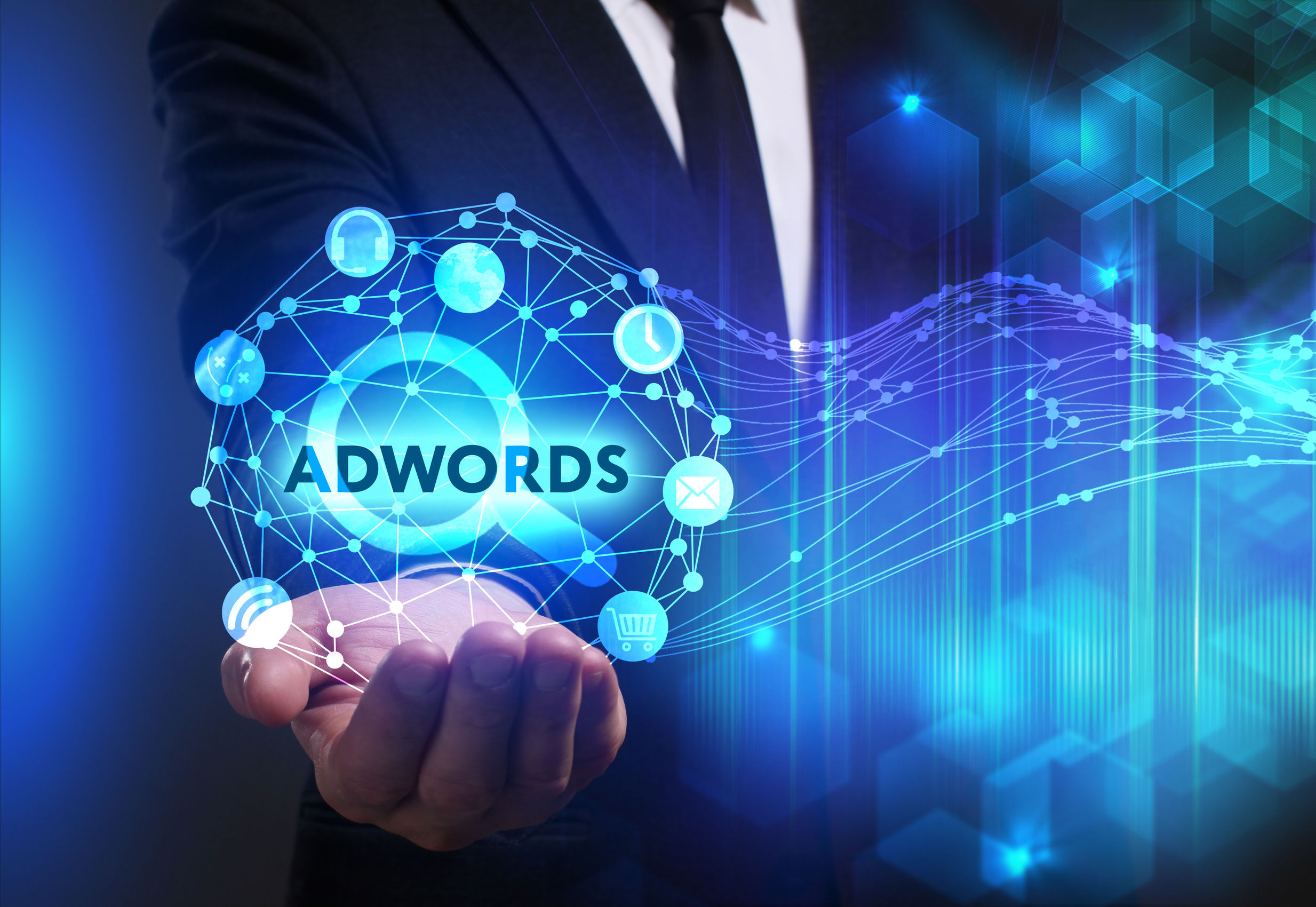 Digital Adwords in der Hand