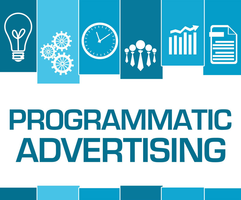 Blaue Programmatic Advertising Grafik